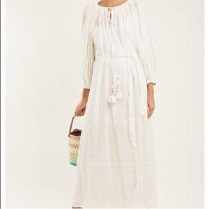 Mes Demoiselles Paris white & gold maxi dress 🤗